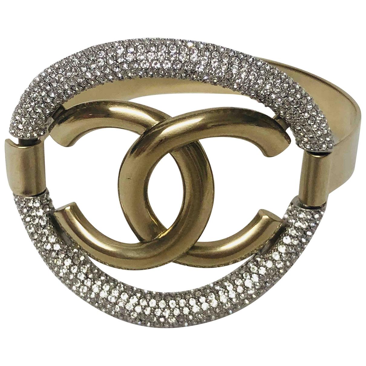 Chanel - Bracelet CC pour femme en acier - dore