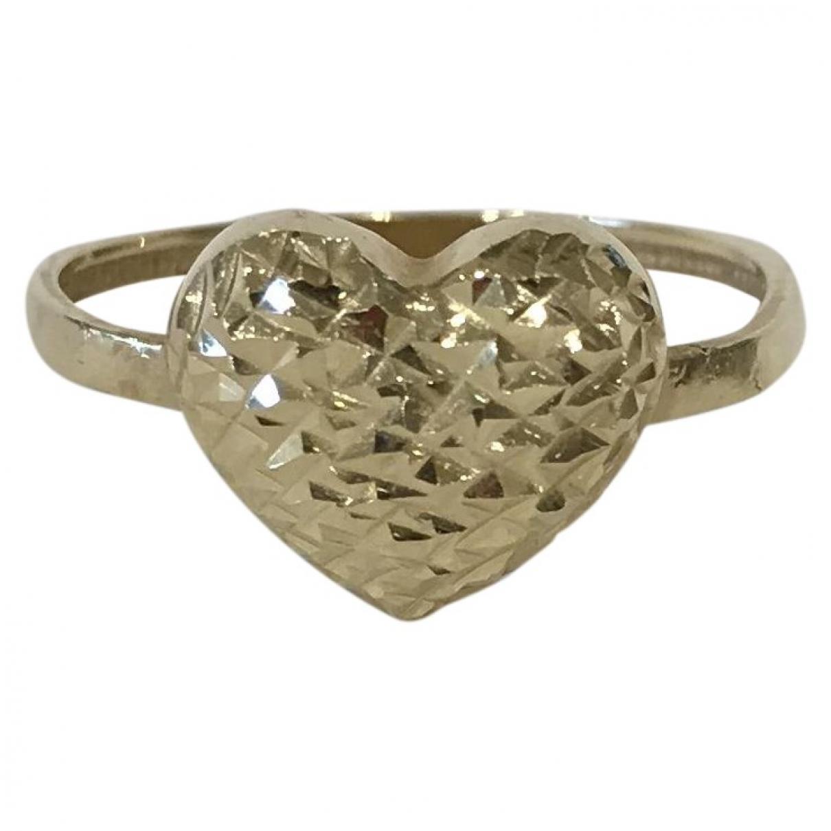 - Bague Motifs Coeurs pour femme en or jaune - dore