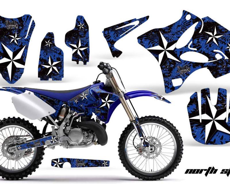 AMR Racing Dirt Bike Graphics Kit Decal Wrap for Yamaha YZ125 YZ250 2002-2014áNORTHSTAR BLUE