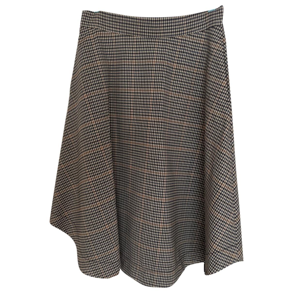 Arket - Jupe   pour femme en laine - multicolore