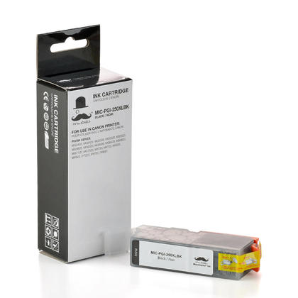 Compatible Canon PIXMA MG7500 Pigment Black Ink Cartridge by Moustache, High Yield