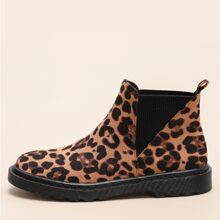 Chelsea Stiefel mit Leopard Muster