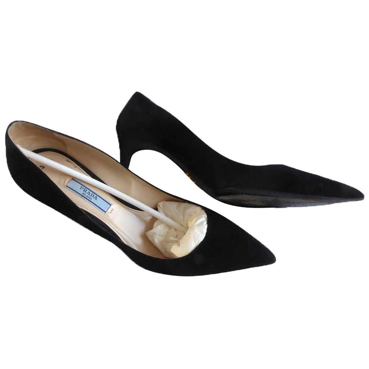 Prada - Escarpins   pour femme en suede - noir