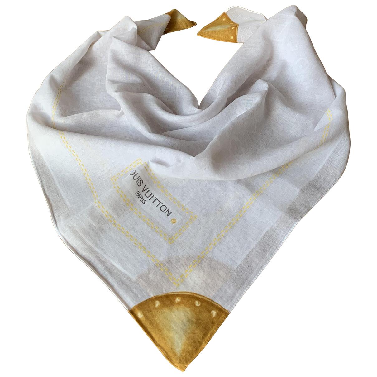Louis Vuitton - Carre   pour femme en coton - blanc