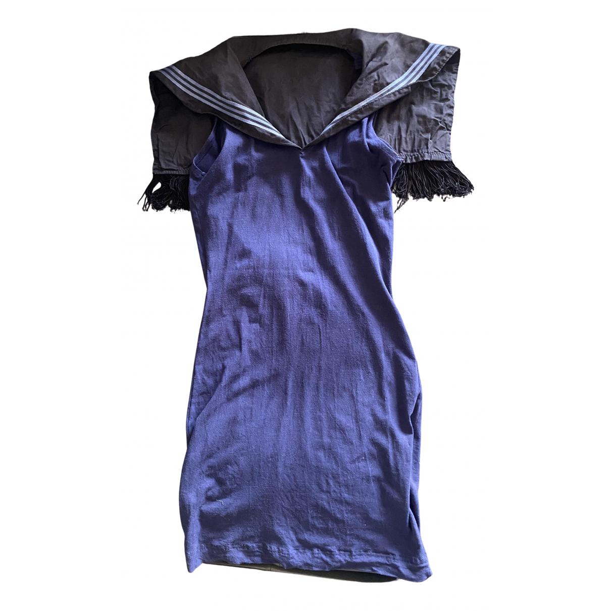 Jean Paul Gaultier \N Kleid in  Blau Baumwolle - Elasthan