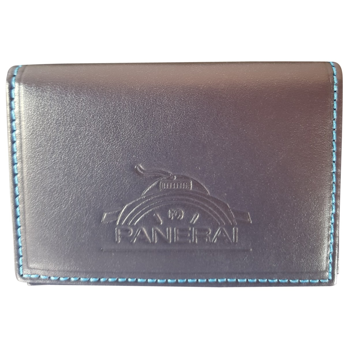 Panerai \N Blue Leather Small bag, wallet & cases for Men \N