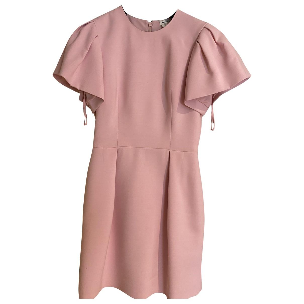 Alexander Mcqueen - Robe   pour femme en soie - rose
