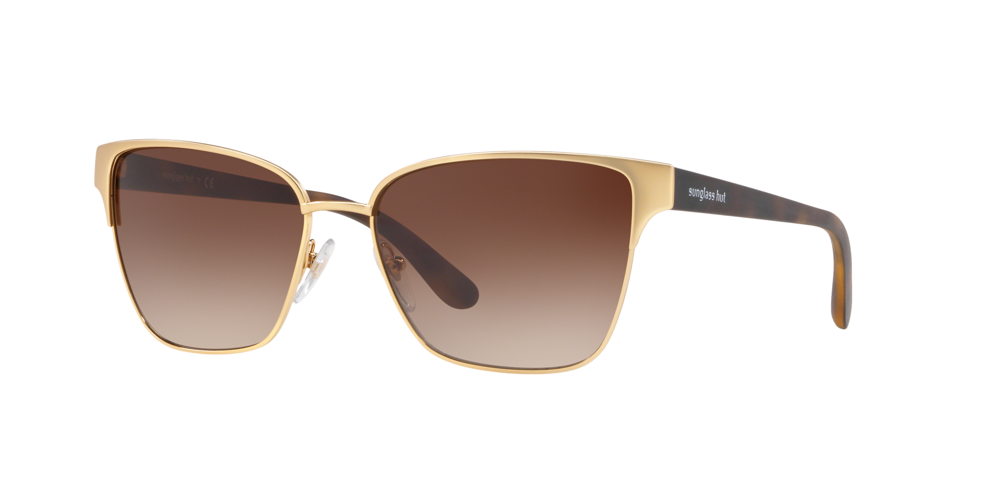Coleccion Sunglass Hut Unisex  HU1007 -  Frame color: Oro, Lens color: Marron, Size 58-17/140