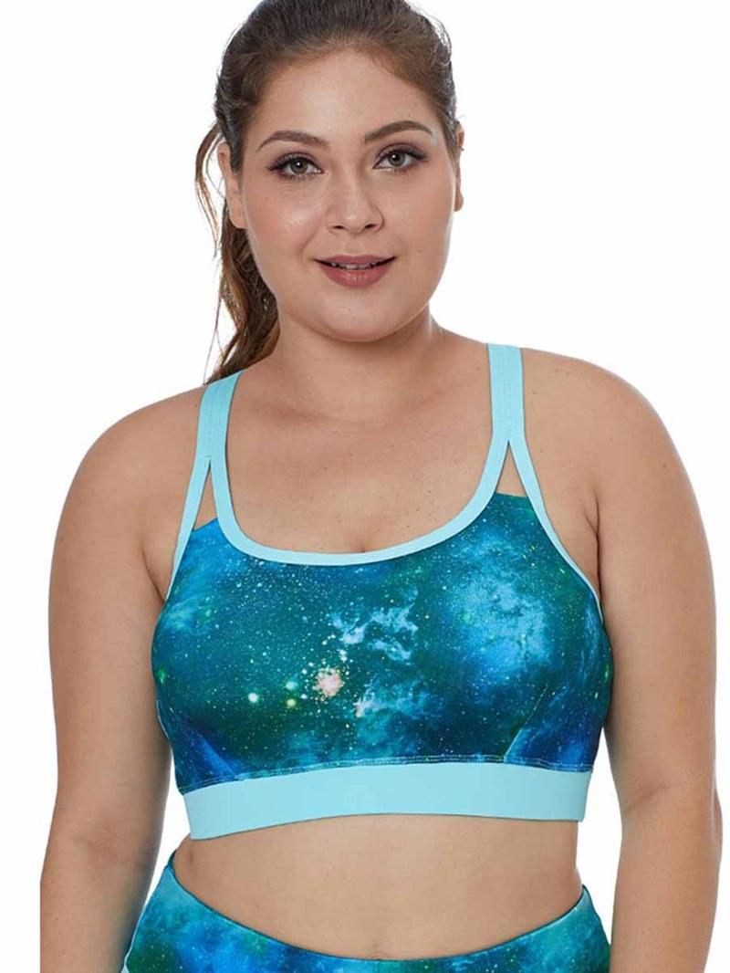 Ericdress Women Plus Size Print Non-Adjusted Straps Sports Bras