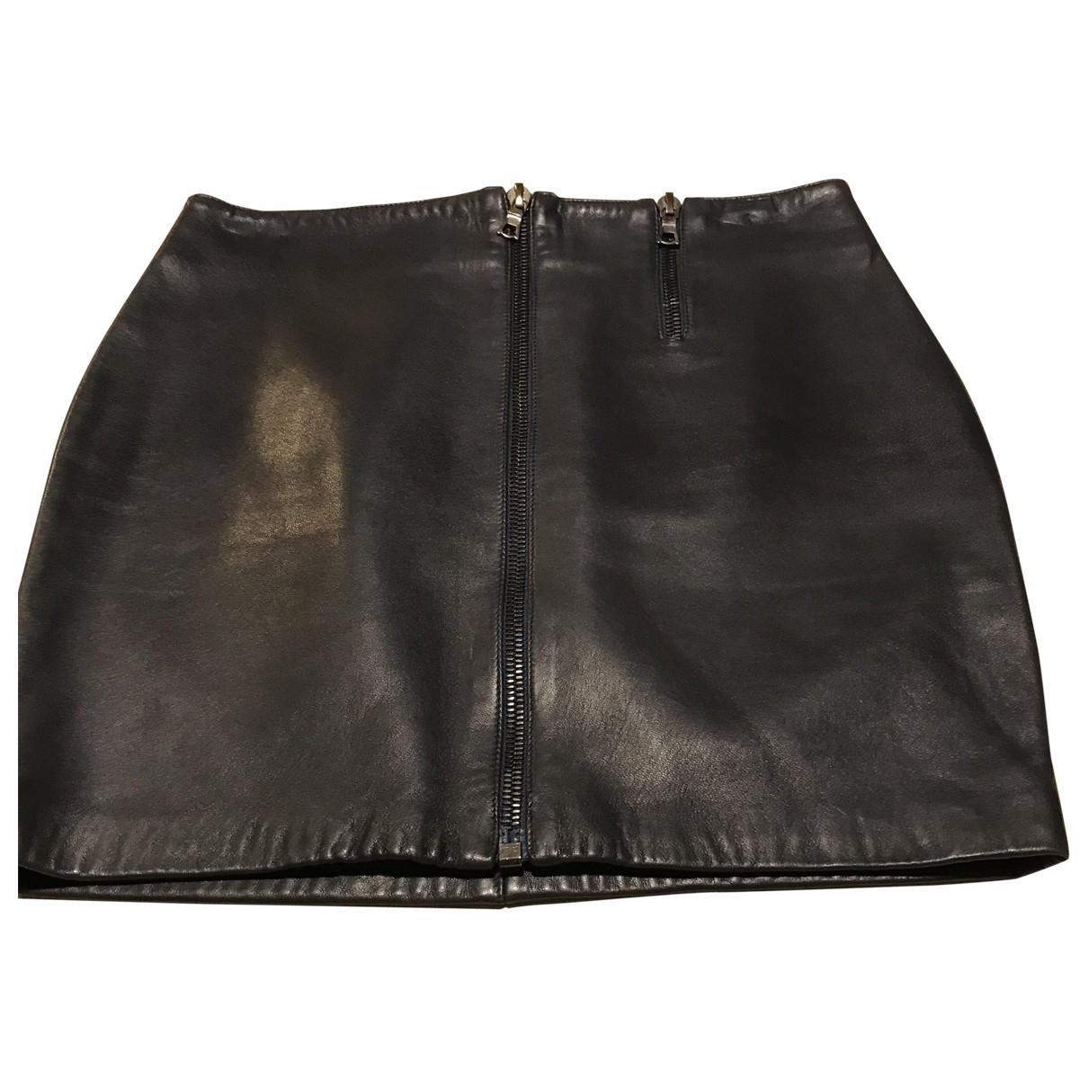 Blumarine \N Black Leather skirt for Women 42 IT