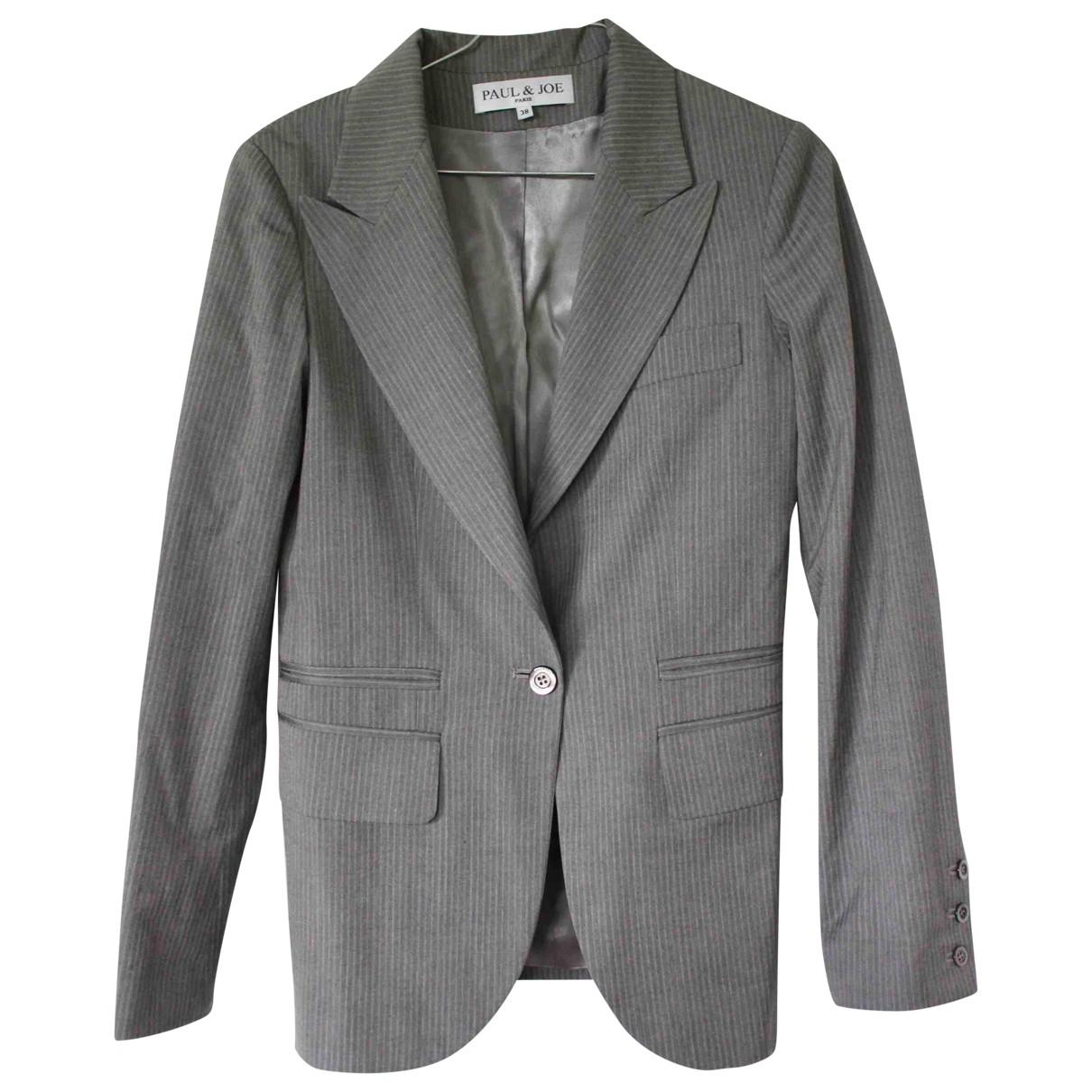 Paul & Joe - Veste   pour femme en laine - gris