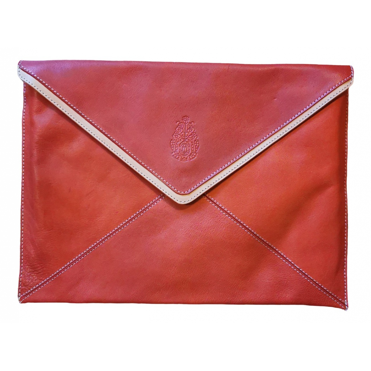 Dondup \N Clutch in  Rot Leder