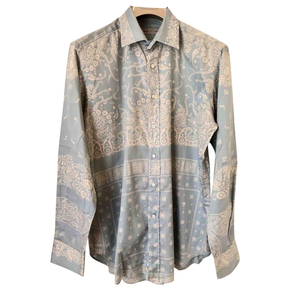 Etro \N Blue Cotton Shirts for Men XL International