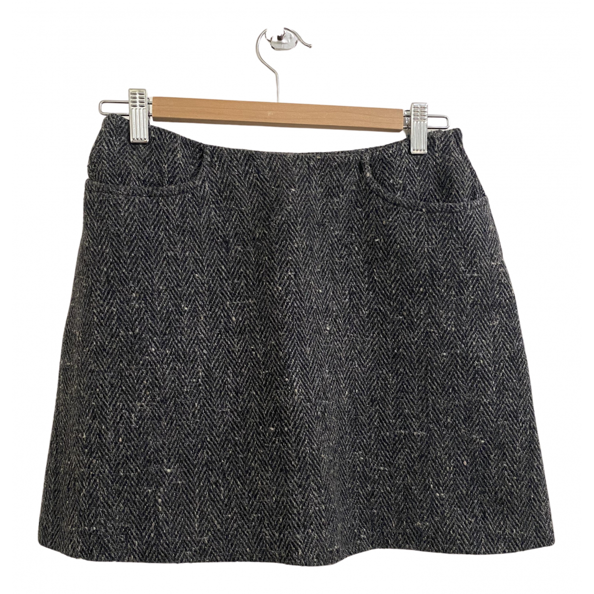 Dolce & Gabbana N Anthracite Wool skirt for Women 40 IT