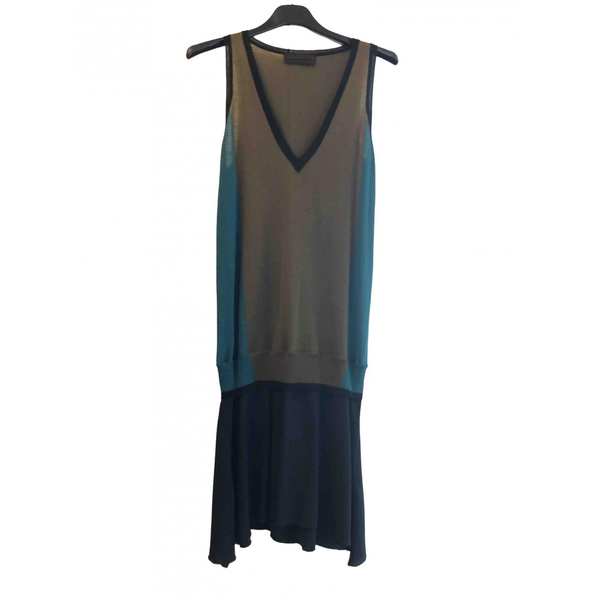Diesel Black Gold \N Kleid in  Gruen Wolle
