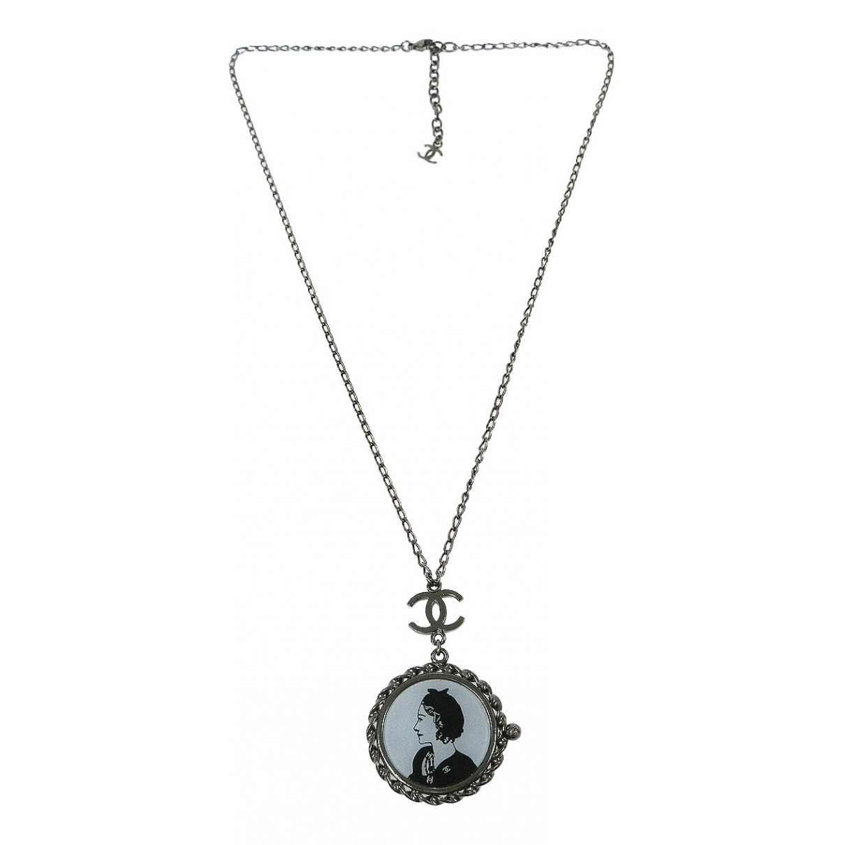 Chanel N Silver Metal necklace for Women N