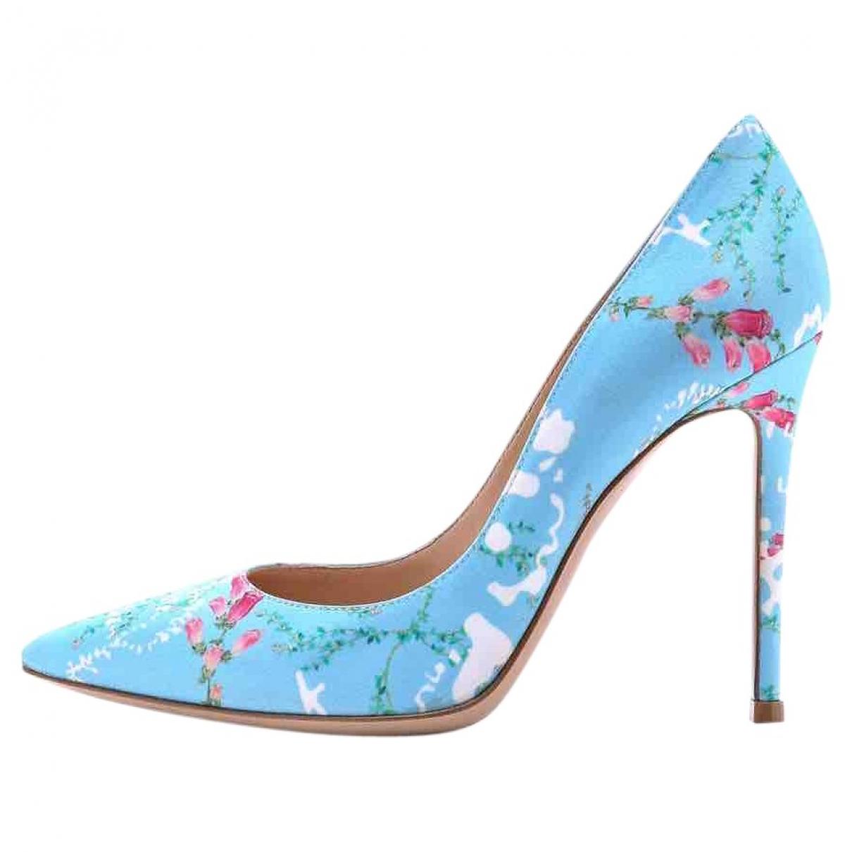 Gianvito Rossi - Escarpins Gianvito pour femme en toile - bleu