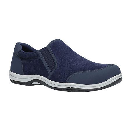 Easy Street Womens Infinity Slip-On Shoe, 7 Wide, Blue