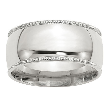 10MM Sterling Silver Wedding Band, 7 1/2 , No Color Family