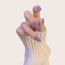 24 Stuecke Plain Falsche Fingernaegel
