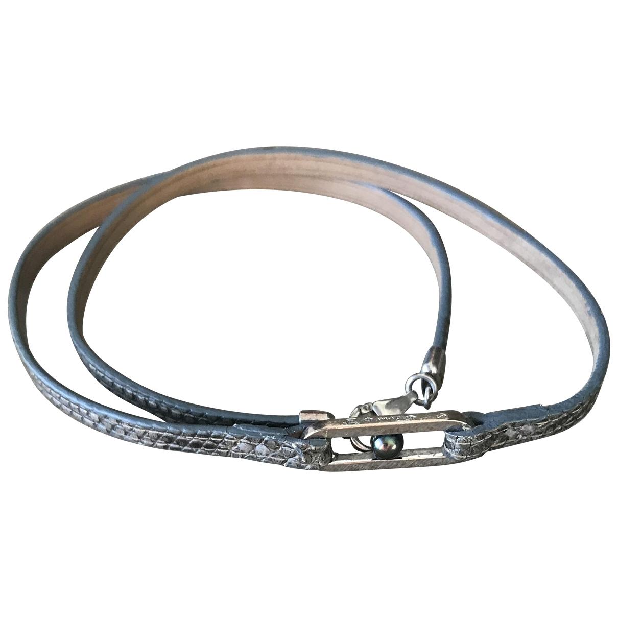 Dinh Van - Bracelet Maillon pour femme en or blanc - gris