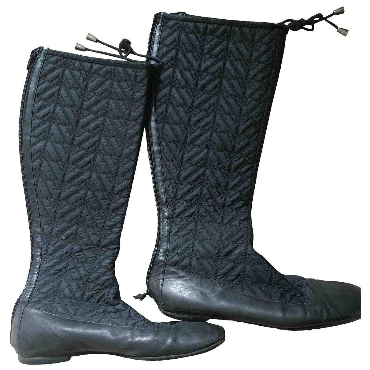 Emporio Armani \N Black Cloth Boots for Women 38 EU