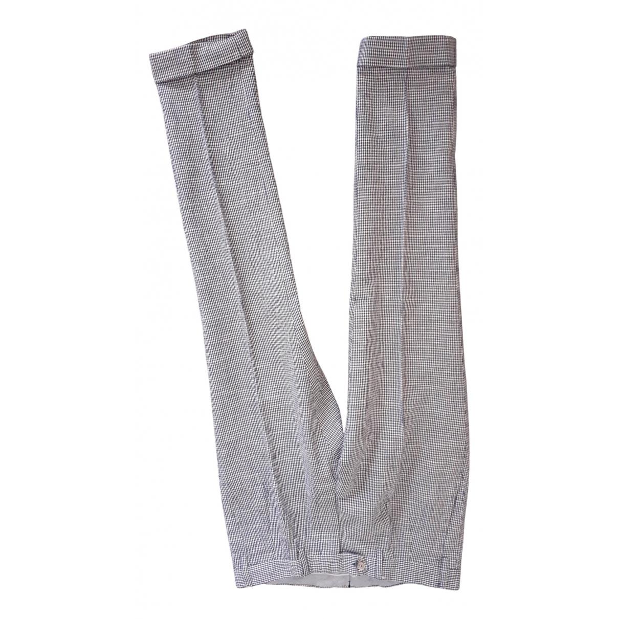 Pantalones en Algodon Multicolor Barba