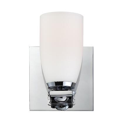 BV1521-10-15 Shpere 1L bath and vanity w/ white opal glas /
