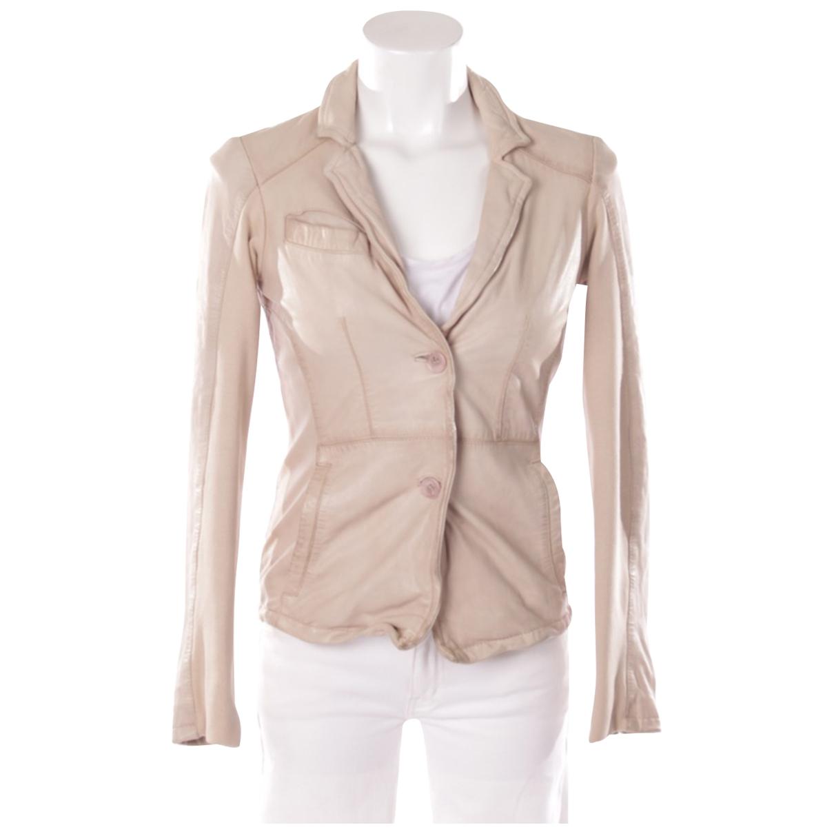Muubaa - Veste   pour femme en cuir - beige