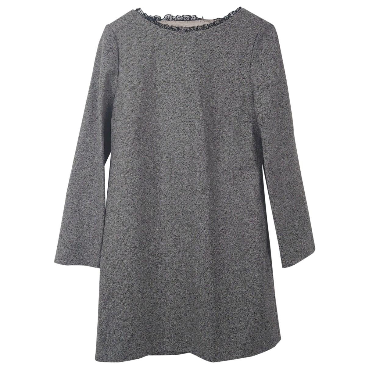 Red Valentino Garavani - Robe   pour femme en laine - gris
