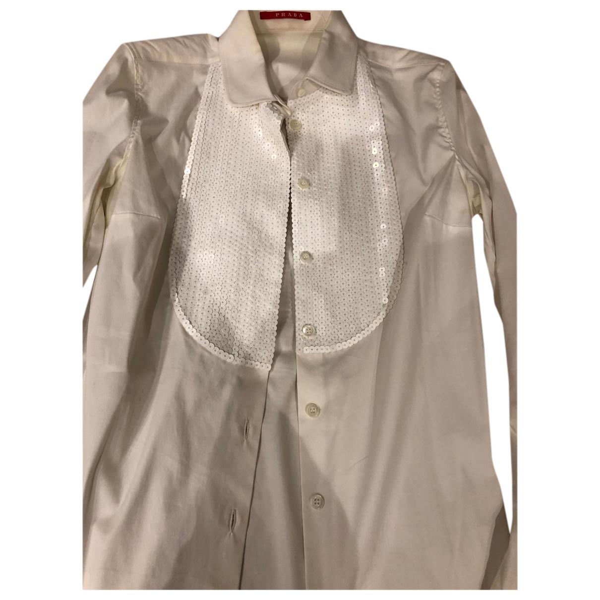 Prada N White Cotton Knitwear for Women 40 IT