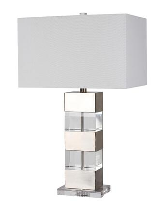 JTL07KT-BN 1-Light Table Lamp with Crystal and Metal Materials and 100 Watts in Chrome