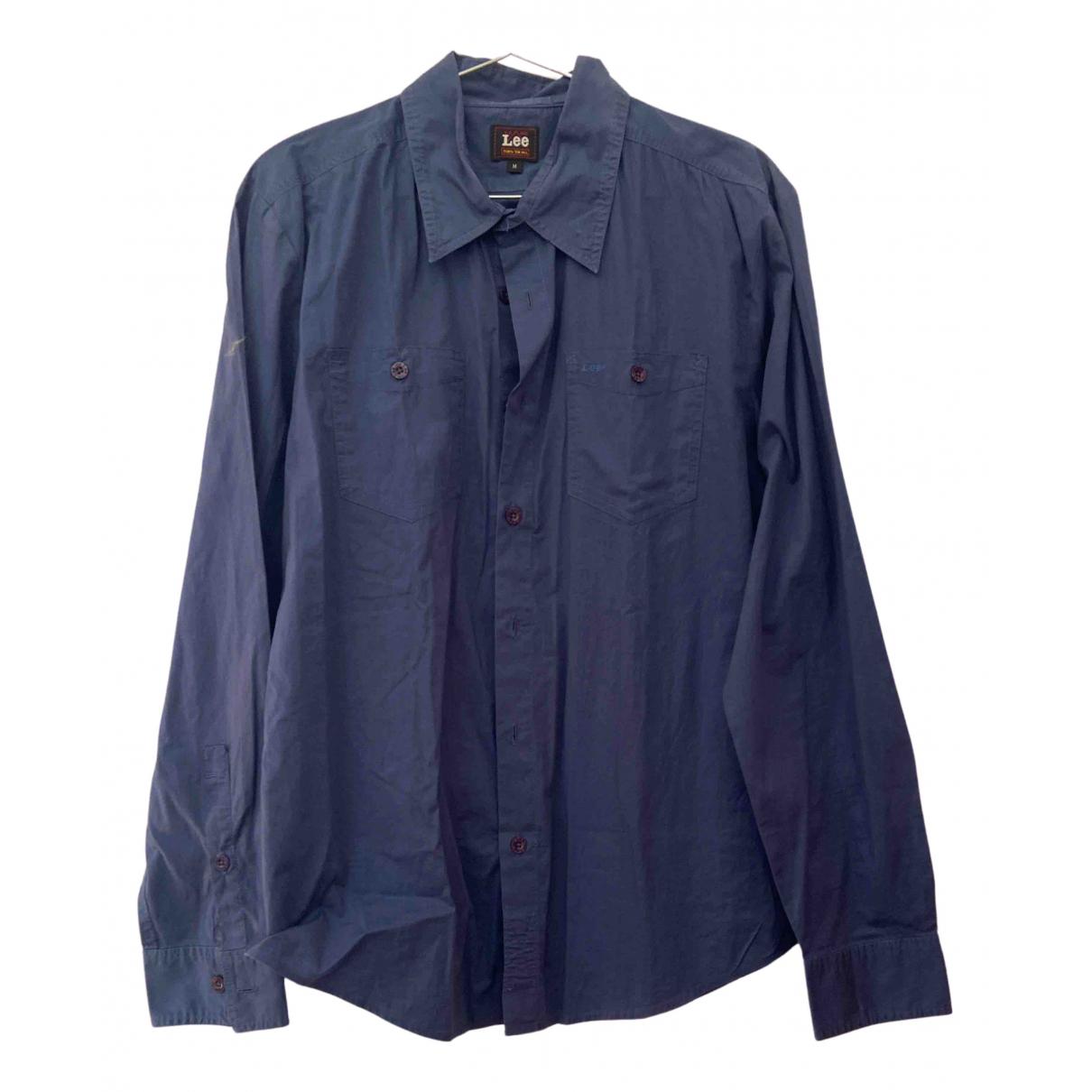 Lee \N Blue Cotton Shirts for Men M International