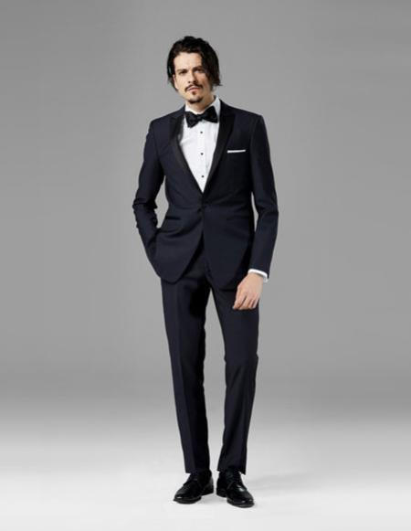 Mens Midnight Blue best Suit buy one get one suits free Suit