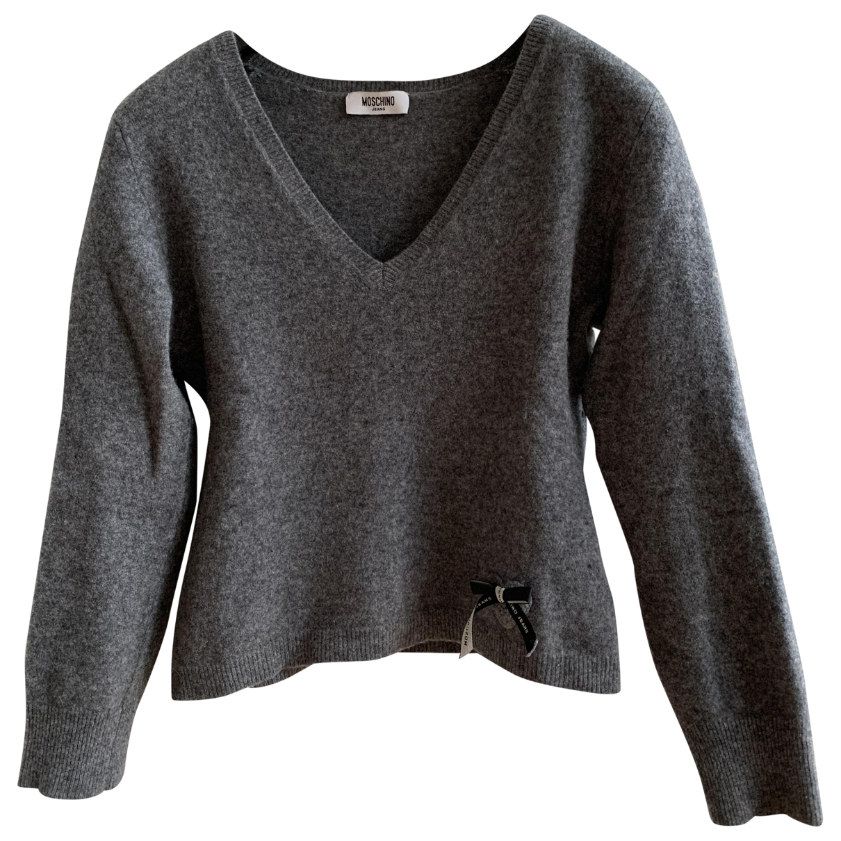Moschino Cheap And Chic - Pull   pour femme en laine - gris
