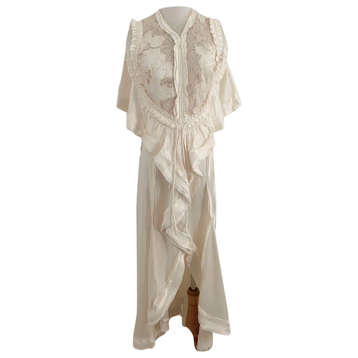 Balenciaga - Robe   pour femme en soie - beige