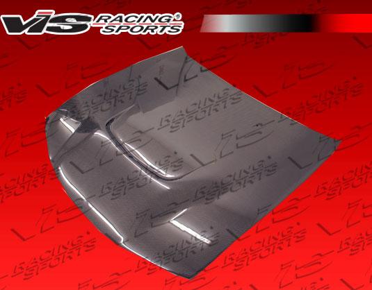 VIS Racing 97NS2402DJS-010C JS Style Black Carbon Fiber Hood Nissan 240SX 97-98