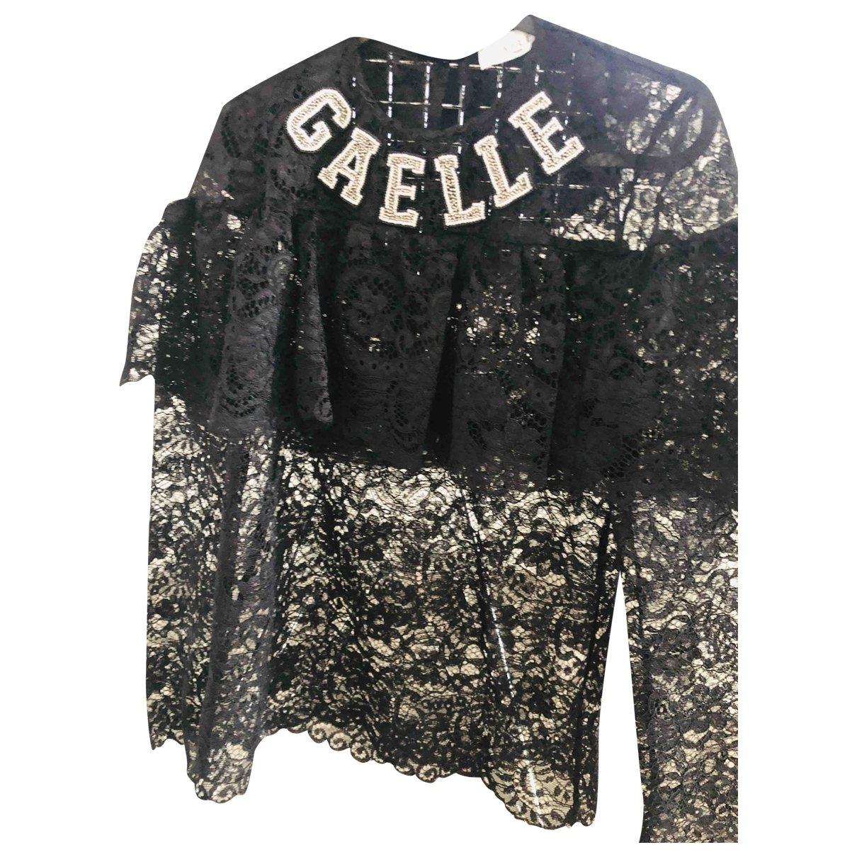 Gaelle Paris \N Black Lace  top for Women 42 IT