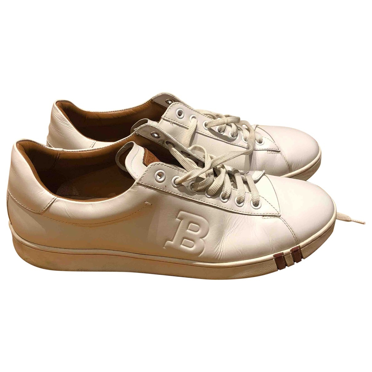 Bally \N White Leather Trainers for Men 43 EU