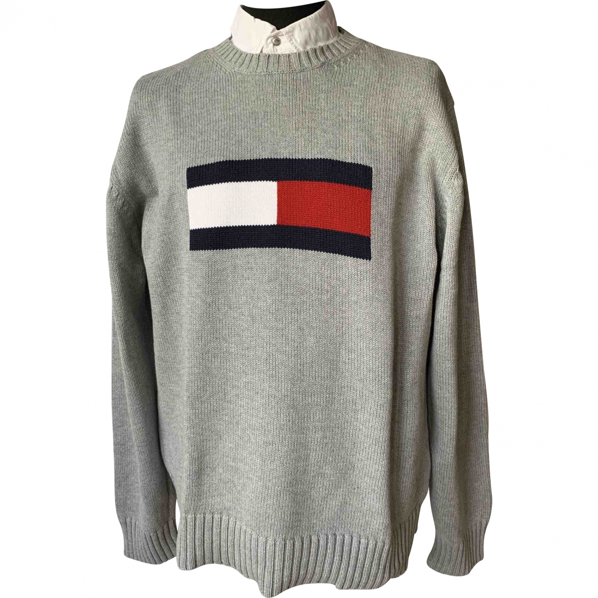 Tommy Hilfiger \N Grey Cotton Knitwear & Sweatshirts for Men XL International