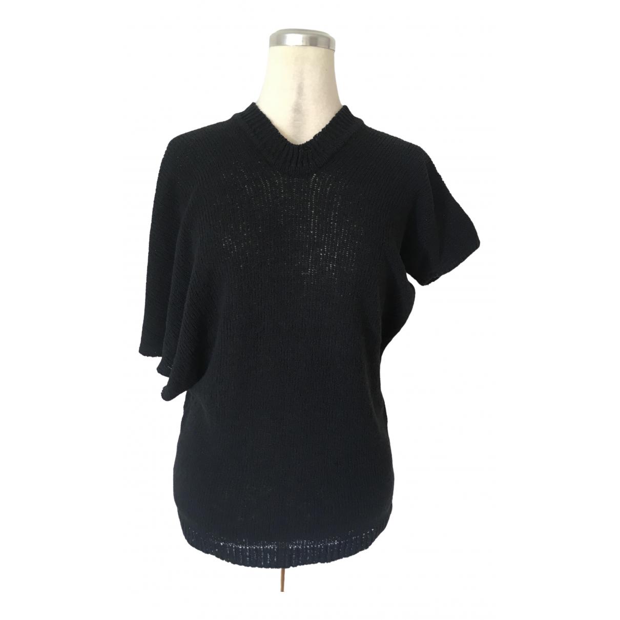 Yohji Yamamoto - Pull   pour femme en soie - noir