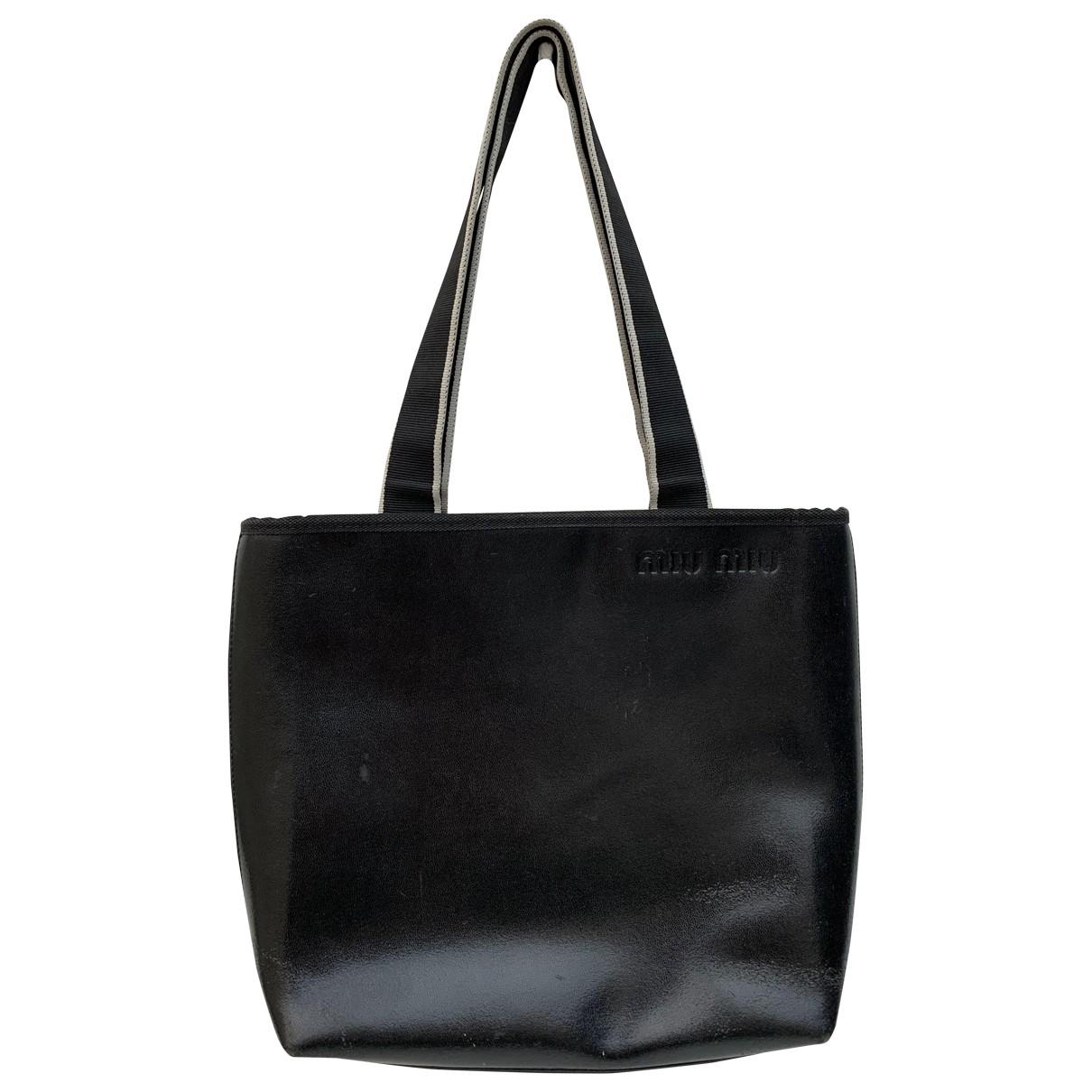 Miu Miu \N Handtasche in  Schwarz Leder