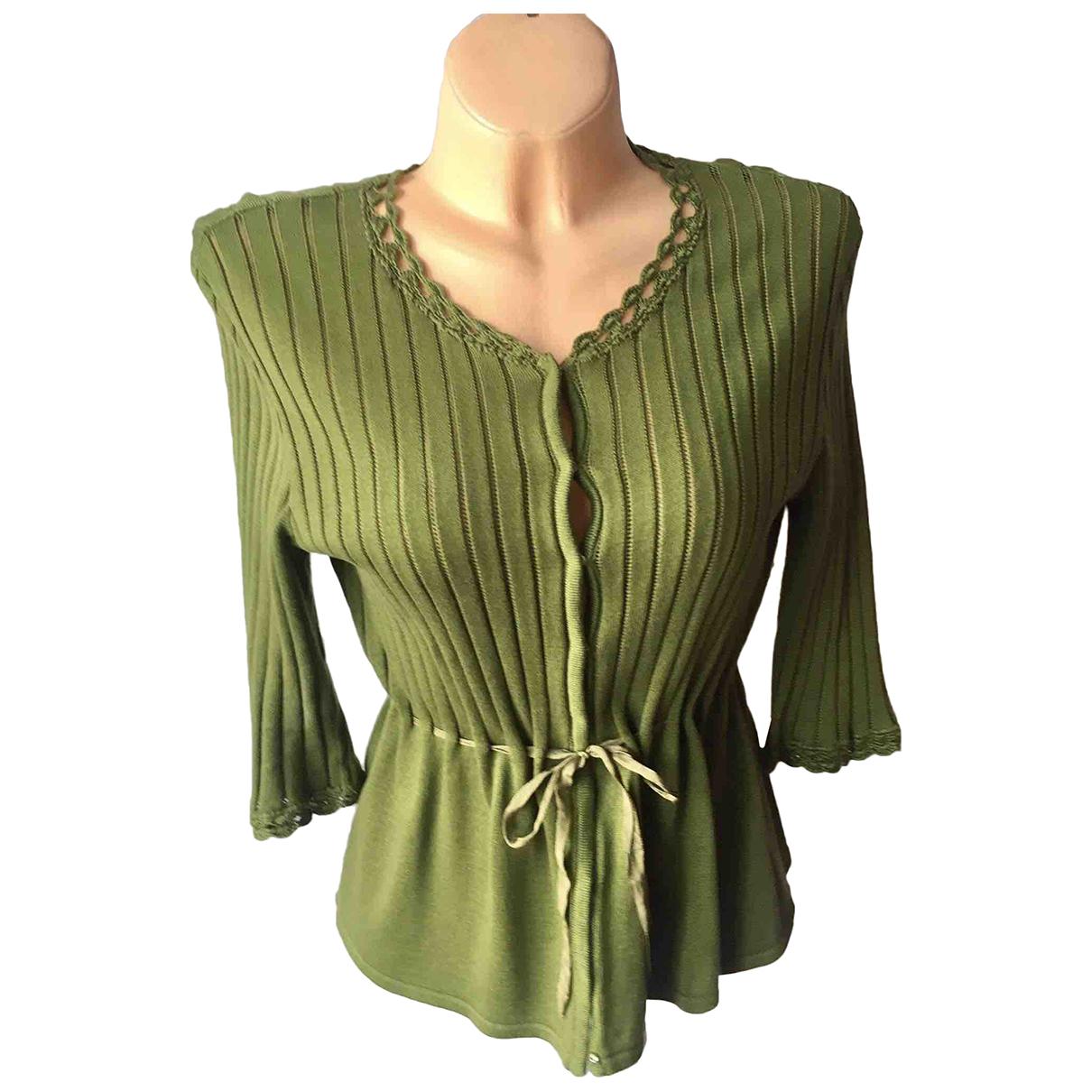 Alberta Ferretti \N Green Cotton Knitwear for Women M International