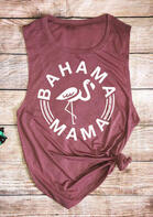 Bahama Mama Flamingo Tank - Cameo Brown