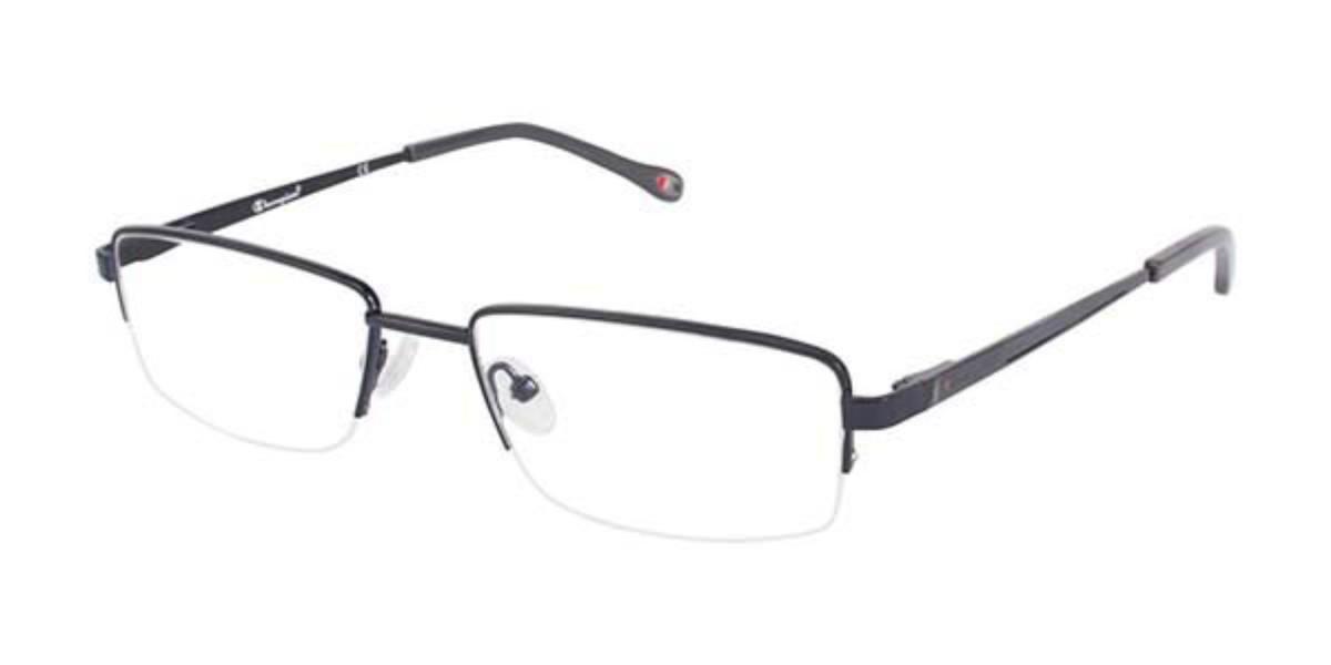 Champion 1003 C03 Men's Glasses Black Size 54 - Free Lenses - HSA/FSA Insurance - Blue Light Block Available