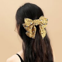 Rhinestone Bow Hair Clip