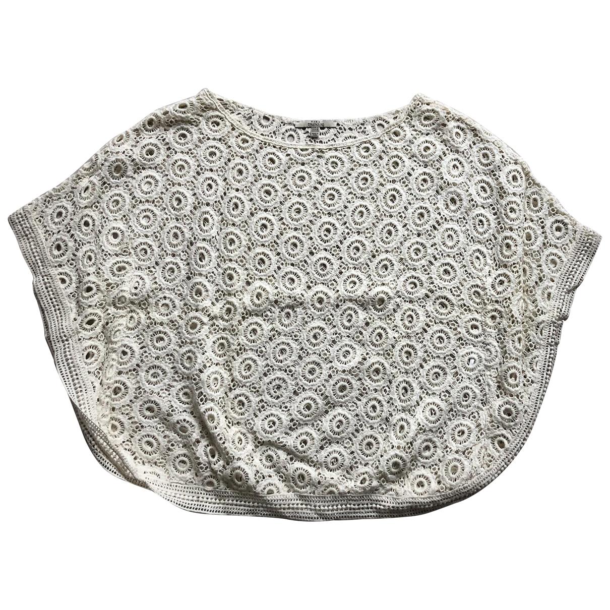 Zara - Top   pour femme en coton - beige