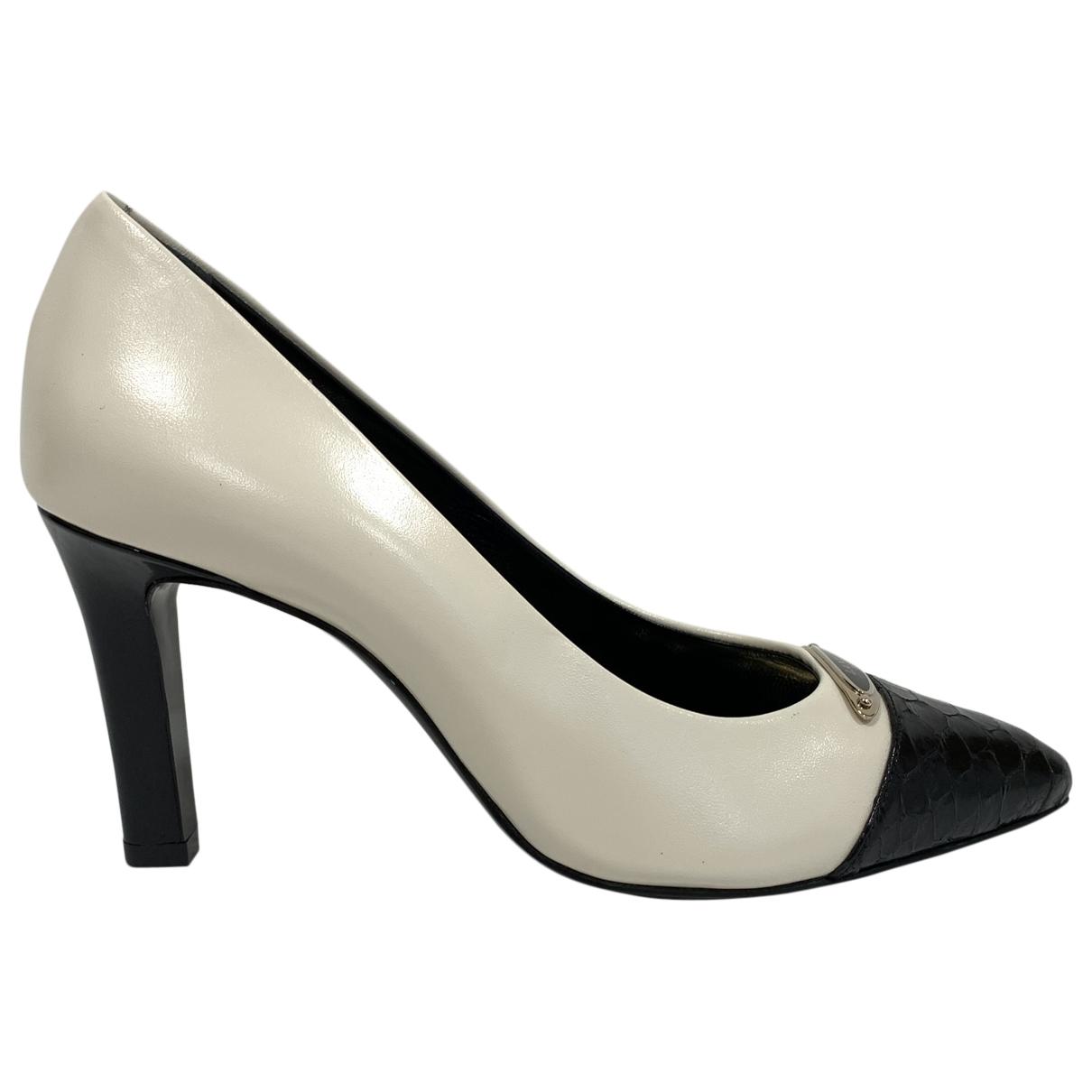 Lanvin \N Ecru Leather Heels for Women 37 EU