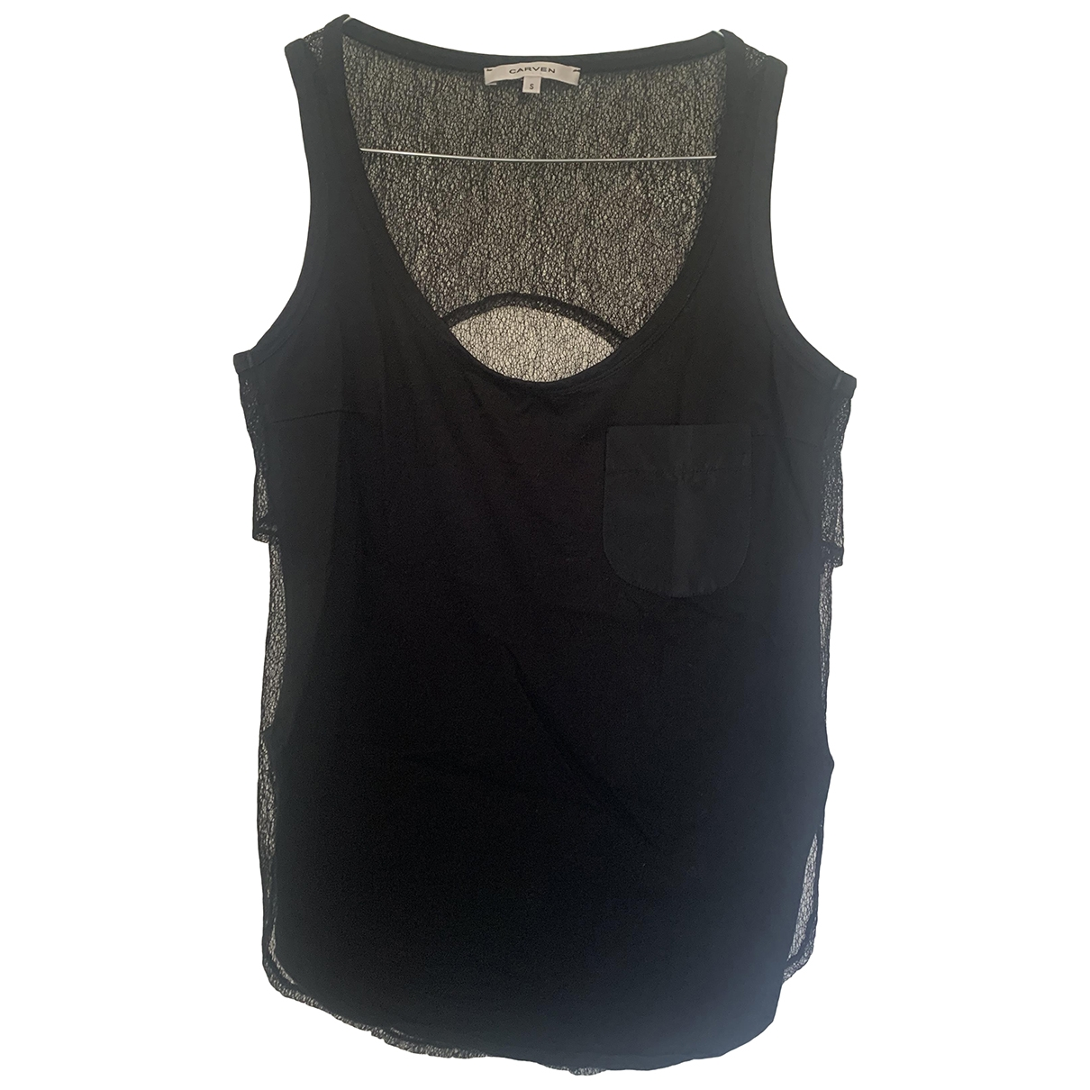 Carven - Top   pour femme en coton - noir