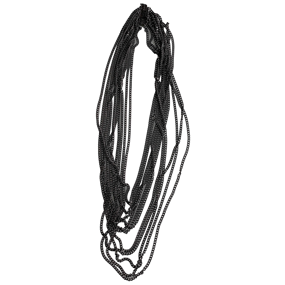 Non Signé / Unsigned Chaînes Anthracite Steel necklace for Women \N